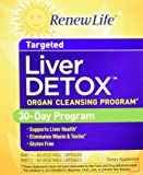Renew Life - Liver Detox -  Milk Thistle liver cleanse - liver support - liver detox and cleanse supplement - 30 day - 120 vegetable capsules