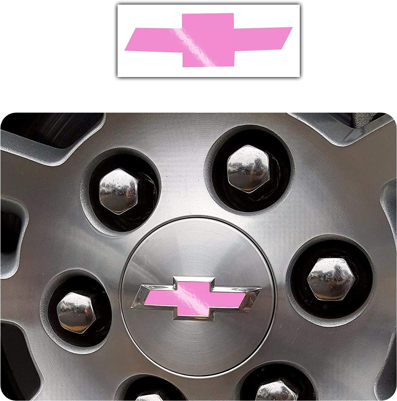 Bogar Tech Designs Pre Cut Center Wheel Cap Vinyl Decal Sticker Compatible with Chevy Silverado 2019 Gloss Pink