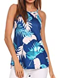 Sherosa Women's Casual Spaghetti Strap Floral Print Tank Tops Camis Shirt