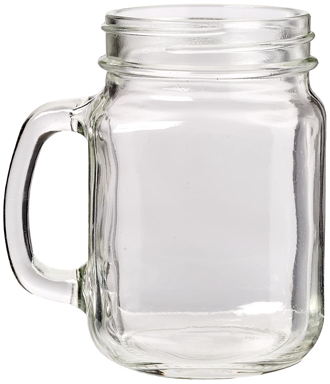 60e3023179b 12x Olympia Handled Jam Jar Glasses 16oz 450ml Cocktail Beer Drinking Mugs   Amazon.co.uk  Business