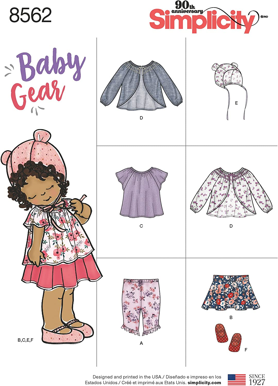 Simplicity Sewing Patterns 8706 Baby Gear Separates Jumper Top Leggings /& Hats