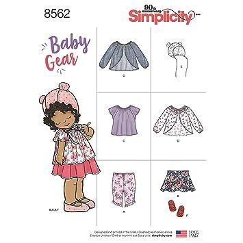 Simplicity Baby Gear Trennt | Größe xxs-l Schnittmuster 8562: Amazon ...