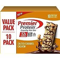 Premier Protein Crunchy Nut Bar, Salted Caramel Cashew, 10 Count