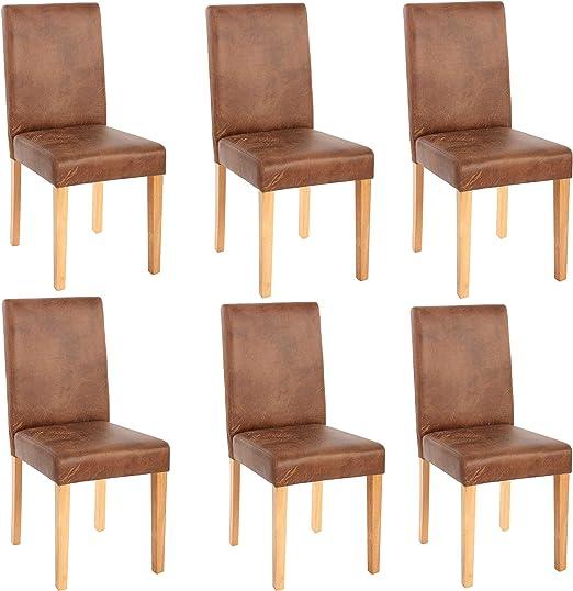 Mendler 6X Esszimmerstuhl Stuhl Küchenstuhl Littau ~ Textil