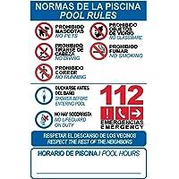 Cartel resistente PVC - NORMAS DE PISCINA -POOL