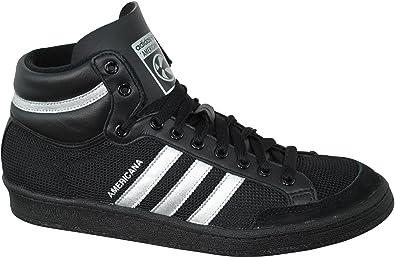 quality design ff2b1 51cba adidas Americana 88 Hightop Black Hi Trainers D65660 Men s Shoes Black  Size  9.5
