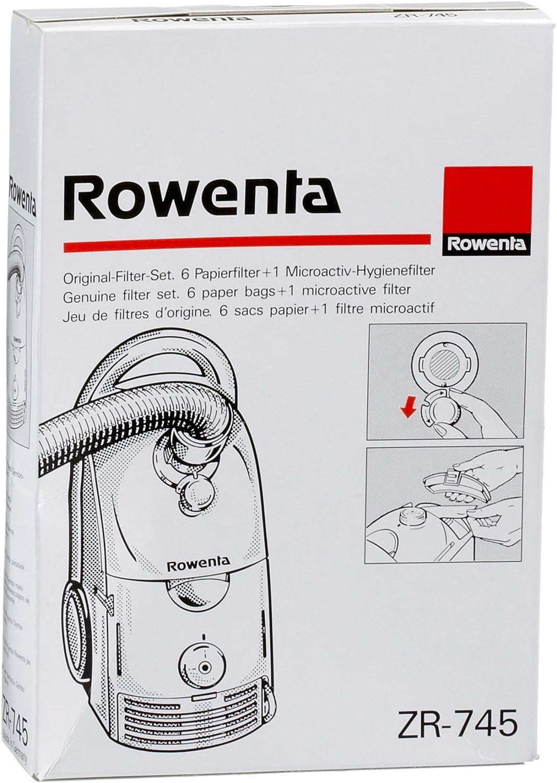 Rowenta ZR745-6 Bolsas de papel + 1 Microactivo para aspiradora ...
