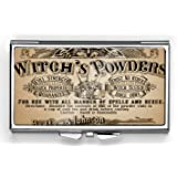Vintage Witch's Powders Pill Box Compact Rectangle 7 Day Pill Box Pill Case
