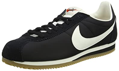 huge discount acf9a 9a013 Nike Men s Classic Cortez Trainers, (Black Sail-Gum Light Brown),