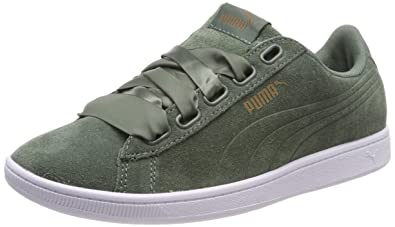 522b109ccc79 PUMA Suede Heart VR Womens Sneakers Shoes-Olive-6.5