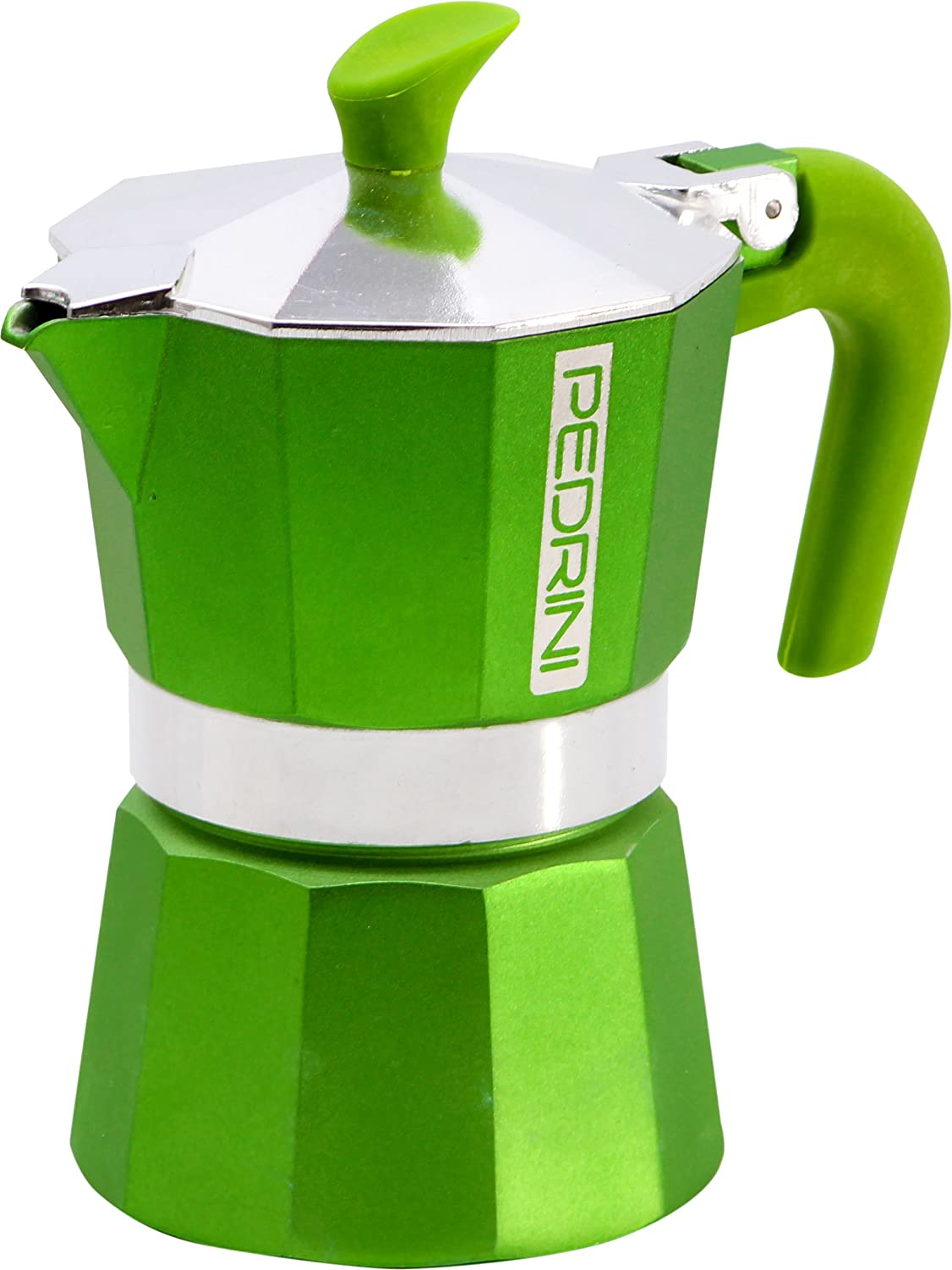 Pedrini: 2 cups Espresso Coffee Pot, Green Colour: Amazon.es: Hogar