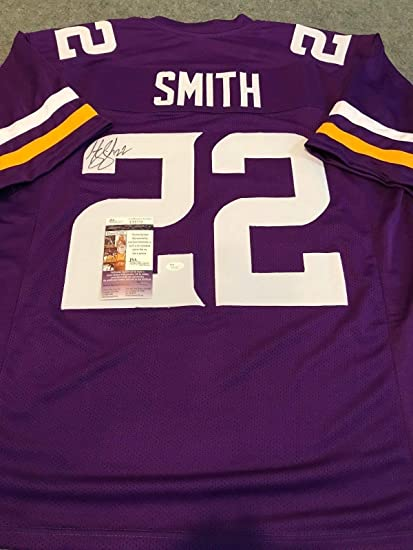 new arrival 79c0d 7ab91 HARRISON SMITH AUTOGRAPHED SIGNED MINNESOTA VIKINGS JERSEY ...