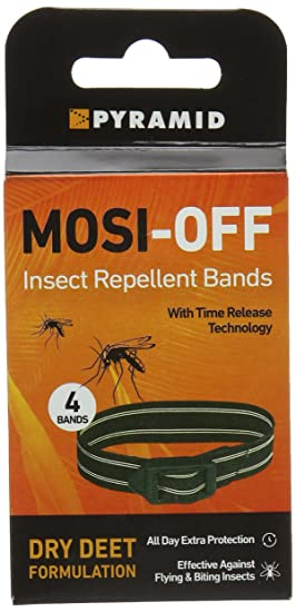 4 Pack Pyramid Mosi-Off Insect Repellent Bands