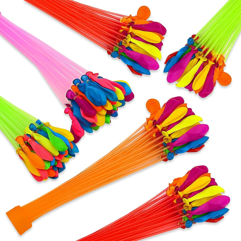 Globo de agua,Bunch O Balloons,200 Bombas de Agua en 60 Segundos,Cierre automático sin Nudos Juguetes divertidos para fiesta al aire libre, jardín, playa.