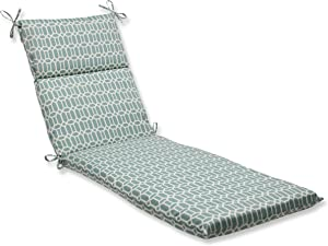 Pillow Perfect Outdoor/Indoor Rhodes Quartz Chaise Lounge Cushion, 72.5 in. L X 21 in. W X 3 in. D, Blue