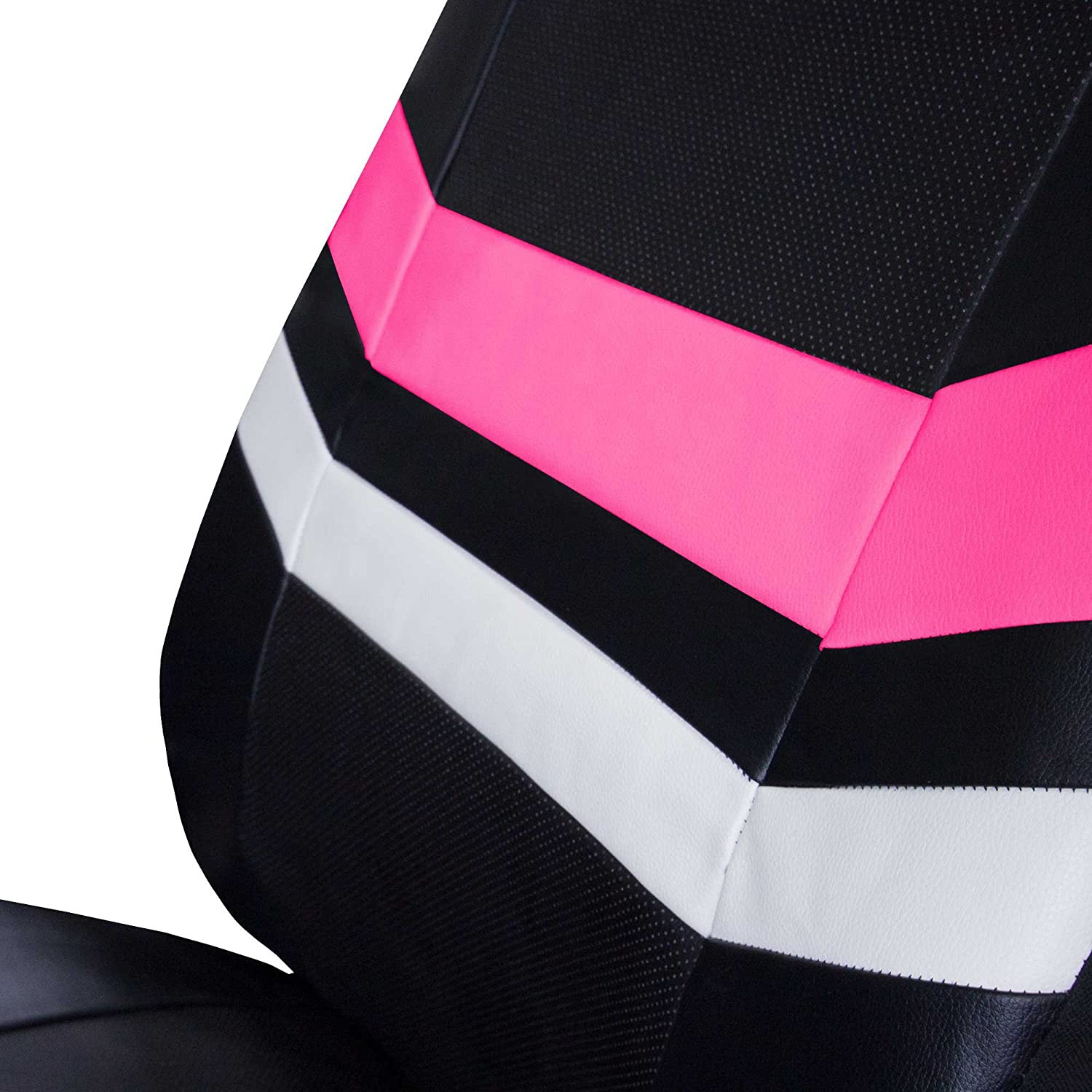 FH Group Leather Full Set Seat Covers Pink Airbag Safe PU006PINK115 /& Split Bench Ready
