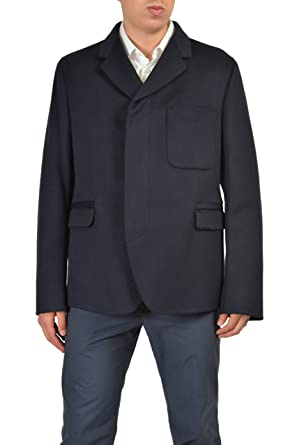 4cfea52af Image Unavailable. Image not available for. Color: Gucci Men's Navy Silk Blazer  Jacket ...