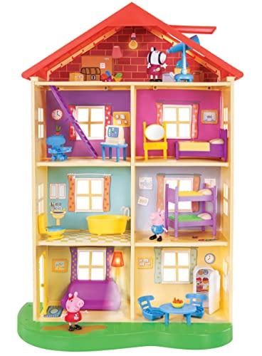 Peppa Pig Lights and Sounds Playset - Kids love to play with Peppa Pig's Family home where they experience all the lights and sounds - It's a great gift idea for kids age 3-8 that love Peppa Pig!