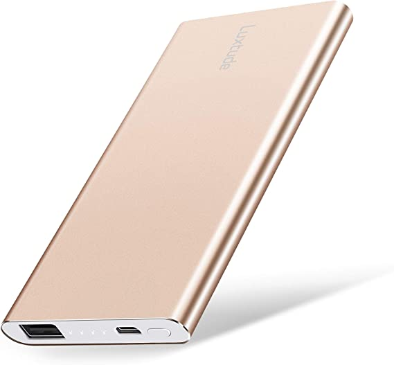 Samsung Galaxy Gold LG and Android Phone Li-Polymer External Battery Pack for iPhone 2.4A Fast Charging Power Bank Portable Charger Luxtude 5000mAh Ultra Slim Portable Phone Charger for iPhone