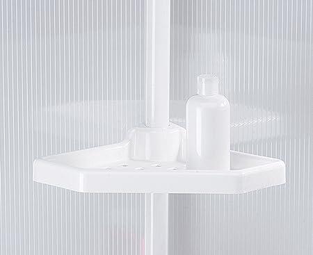 Msv teleskop badregal duschecke duschregal ablagen und haken für