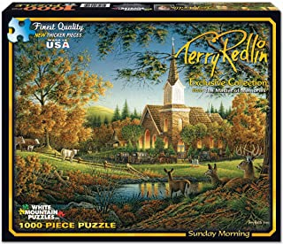 product image for White Mountain Puzzles Exclusive Collection - Sunday Morning by Terry Redlin - 1,000 Piece Jigsaw Puzzle