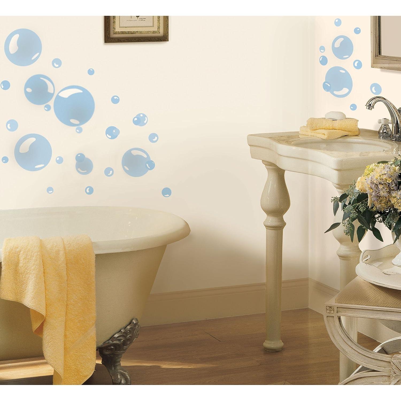 roommates rmk1846scs bubbles peel and stick wall decals decorative wall appliques amazoncom