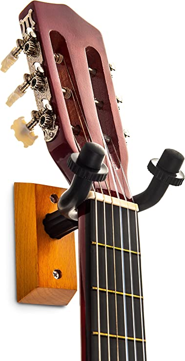 LIVIVO ® Pack de 2 ganchos de pared para guitarra – doble juego de ...