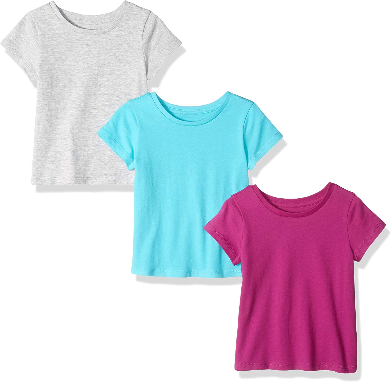 Cyan//Fuchsia//Grey Essentials 3-Pack Short-Sleeve tee Fashion-t-Shirts Medium