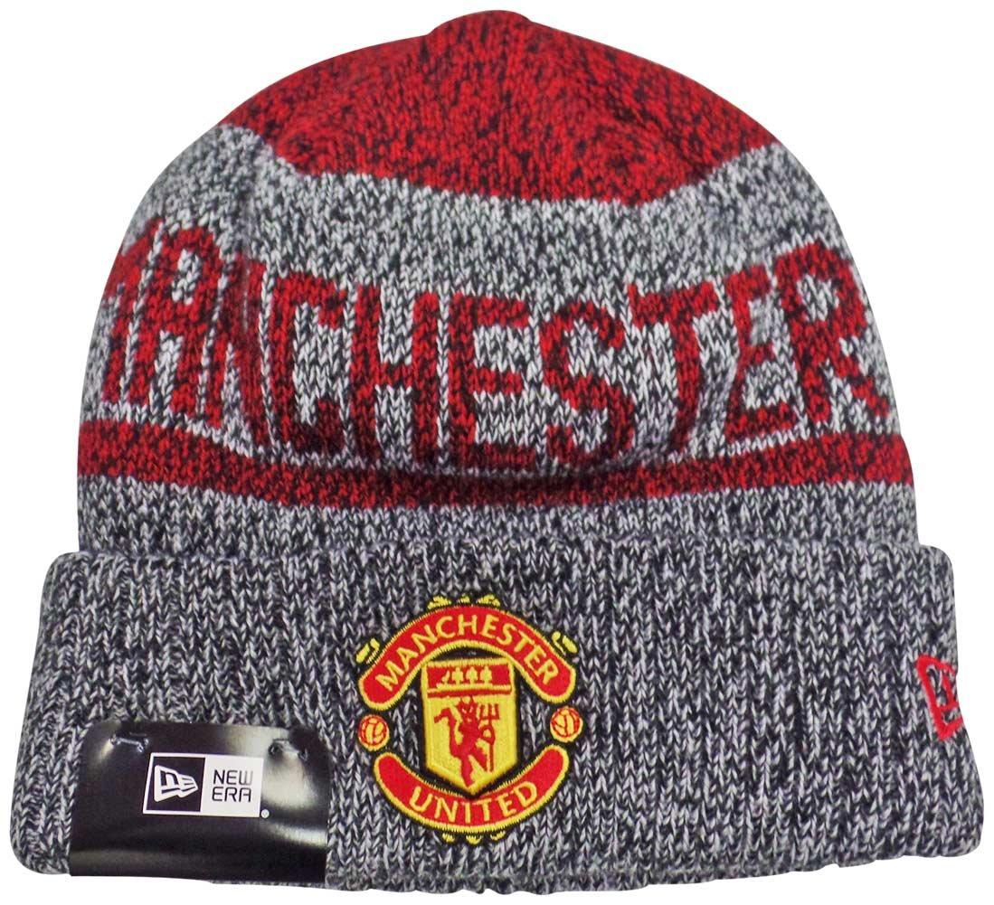 Manchester United New Era Layered Chill Knit Beanie Hat / Cap by New Era