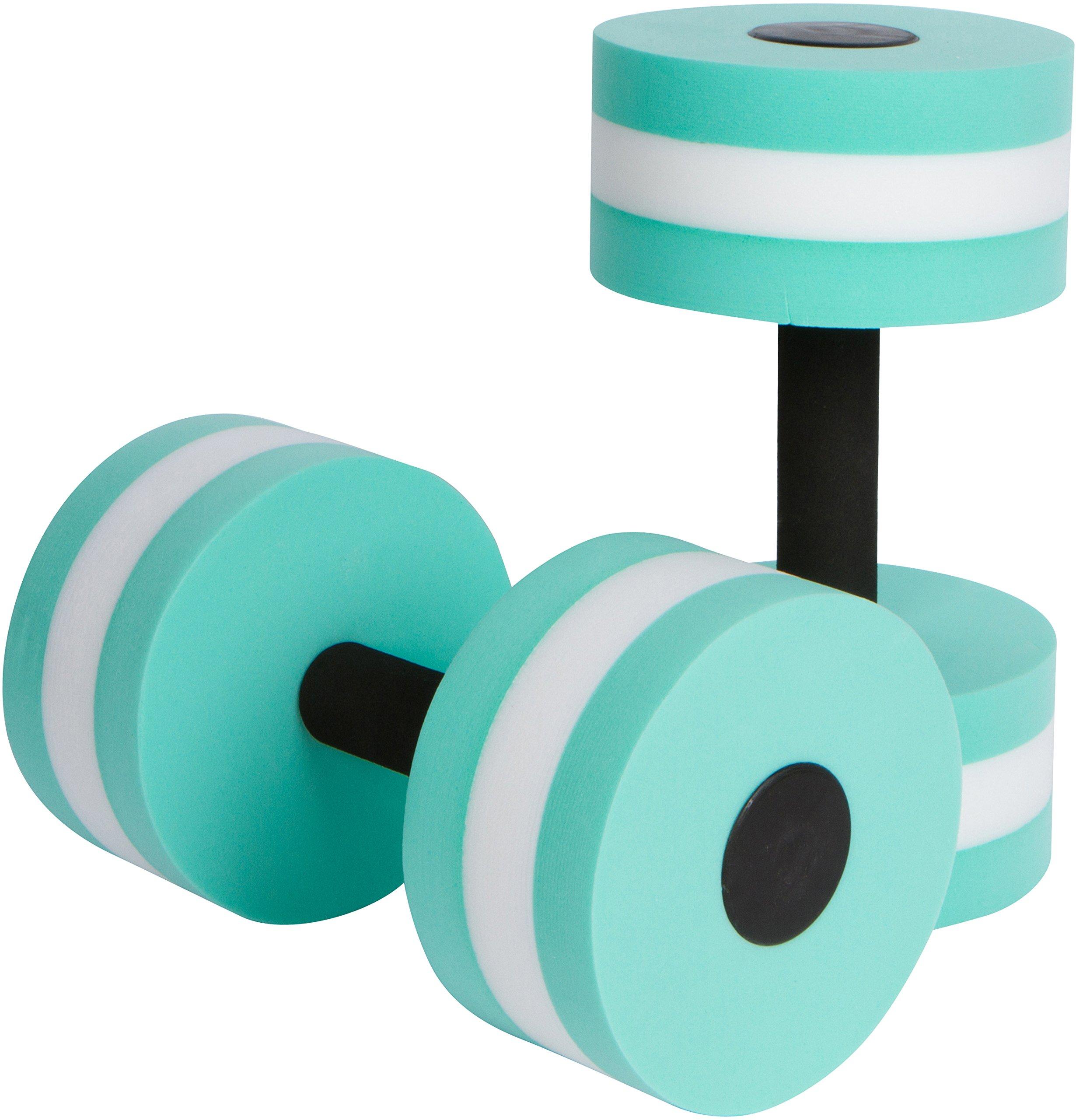 Trademark Innovations Aquatic Exercise Dumbells - Set of 2 Foam - for Water Aerobics (Teal)