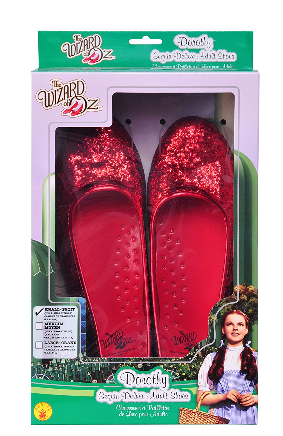 0b293e6d1a4d0 Rubie's Women's Wizard of Oz, Deluxe Adult Dorothy Sequin Shoes
