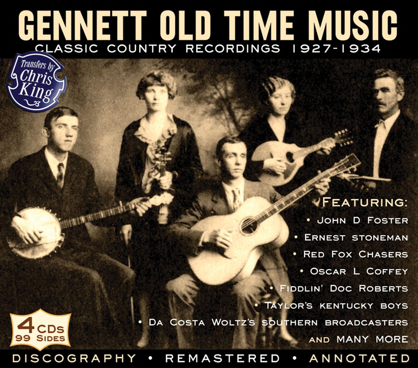 Image result for Gennett Old Time Music: Classic Country Recordings 1927-1934