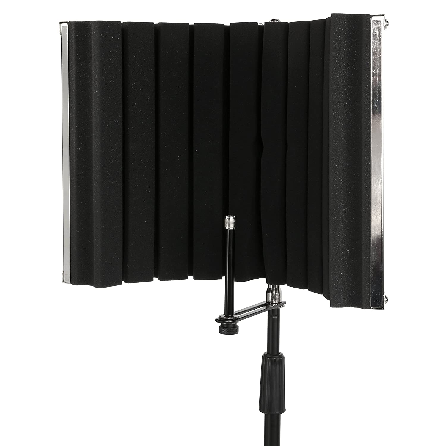 LyxPro VRI-30 Sound Absorbing and Vocal Recording Microphone Isolation Shield Panel For Home Office and Studio Portable & Foldable Stand Mount Adjustable