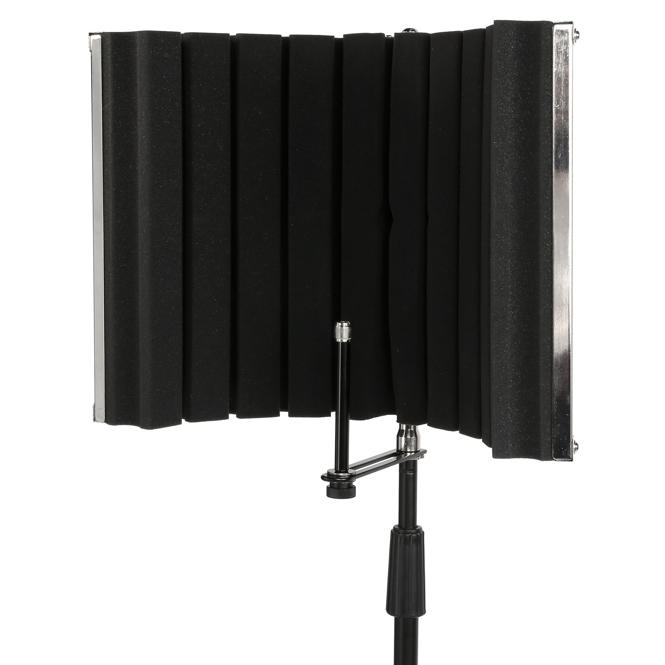 LyxPro VRI-30 - Portable & Foldable Sound Absorbing Vocal Recording Panel - Stand Mount