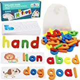 flyingseeds See and Spell Learning Toys, CVC Word Builders with Sight Words Flash Cards Kindergarten, Educational Toys for To