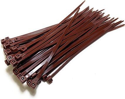 Nylon Kunststoff Kabelbinder Lang Und Breit Xl Größe Kabelbinder Schwarz Und Weiss 4 8mm X 200mm Plastik Braun Baumarkt