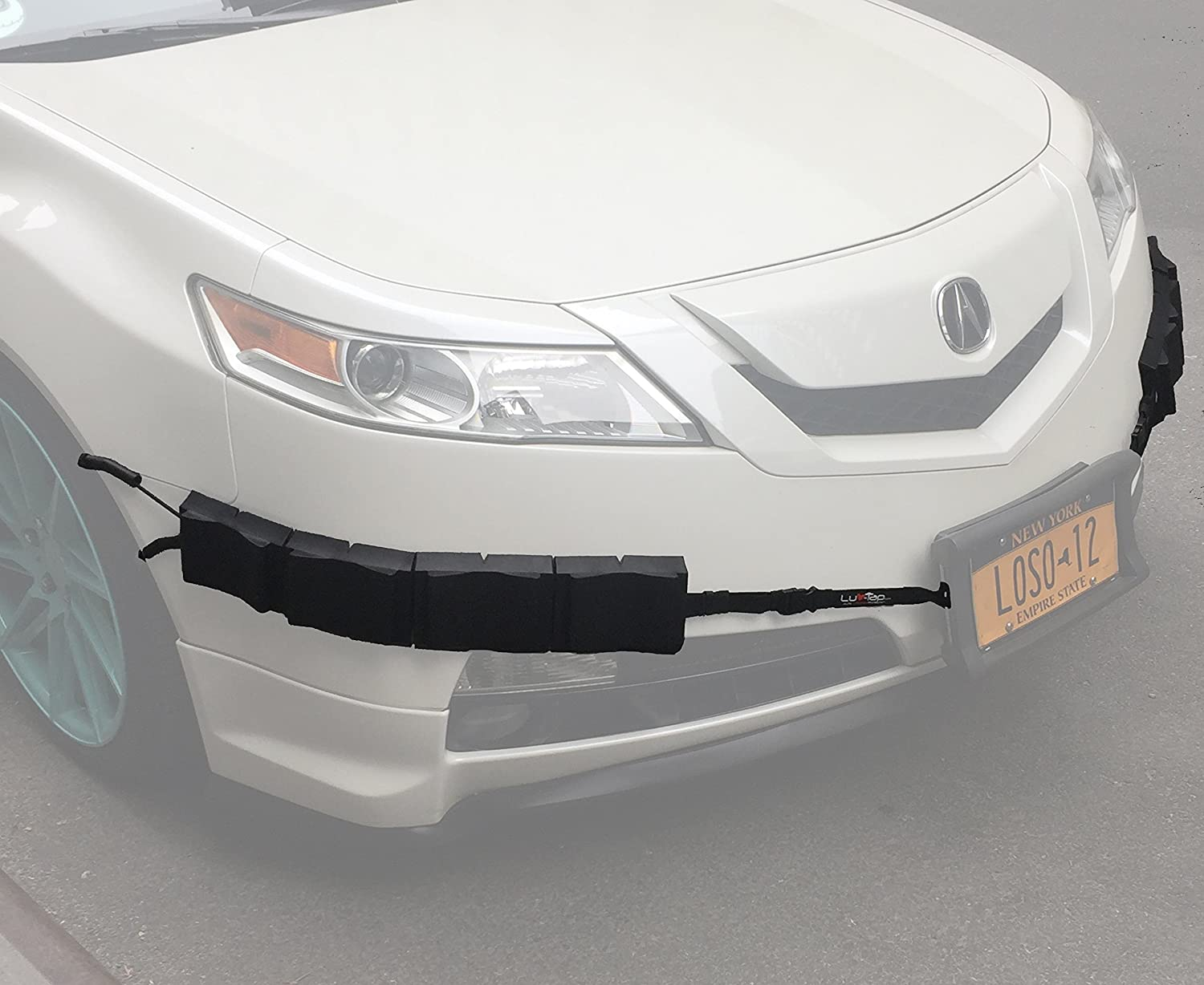 Bumper Thumper Ultimate Complete Coverage Front Bumper Guard Shock  Absorbing Flexible License Plate Frame Protection System (Left and Right