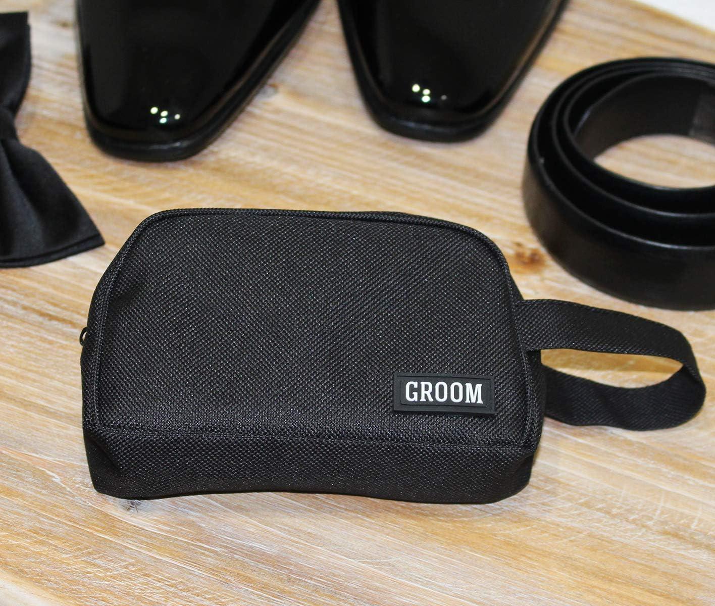 Lillian Rose TR100 GR Groom Survival Kit Bag Measures 5.25 x 4 Black