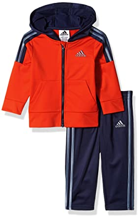 Amazon Com Adidas Baby Boys Zip Hoodie And Pant Set Clothing