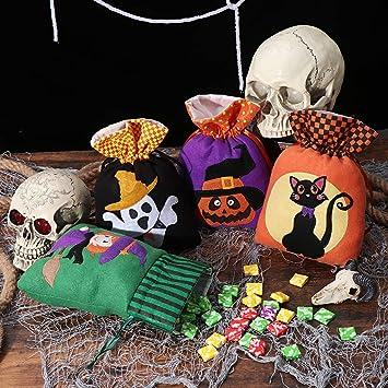 Amazon.com: Hemoton 8PCS Halloween Candy BagsTrick or ...
