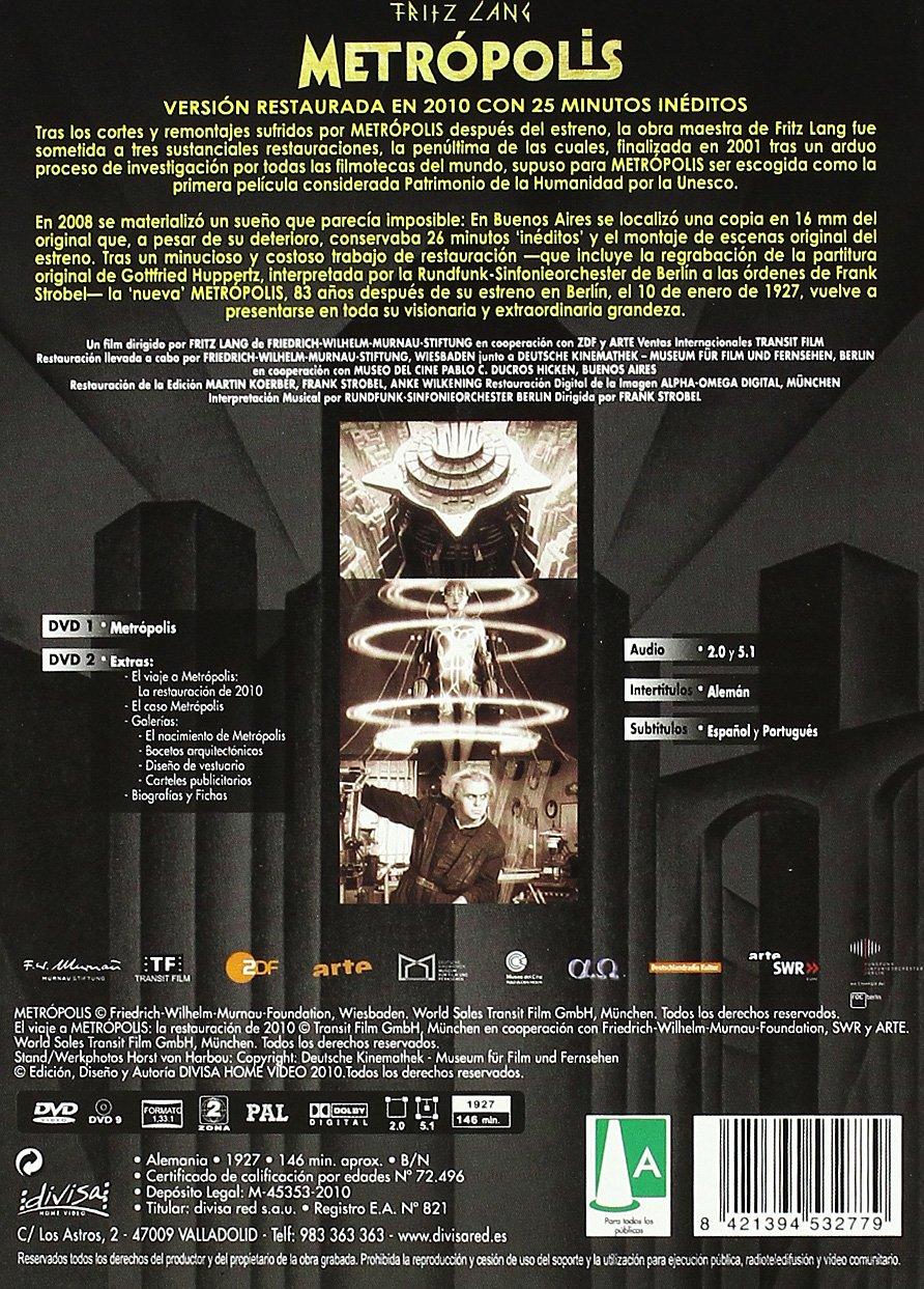 Metrópolis - Versión Íntegra Restaurada [DVD]: Amazon.es ...