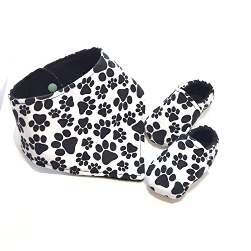 7f697372d9327 Amazon.com: Paw Print Baby Set, Dog Baby Shoes, Baby Gift for Cat ...
