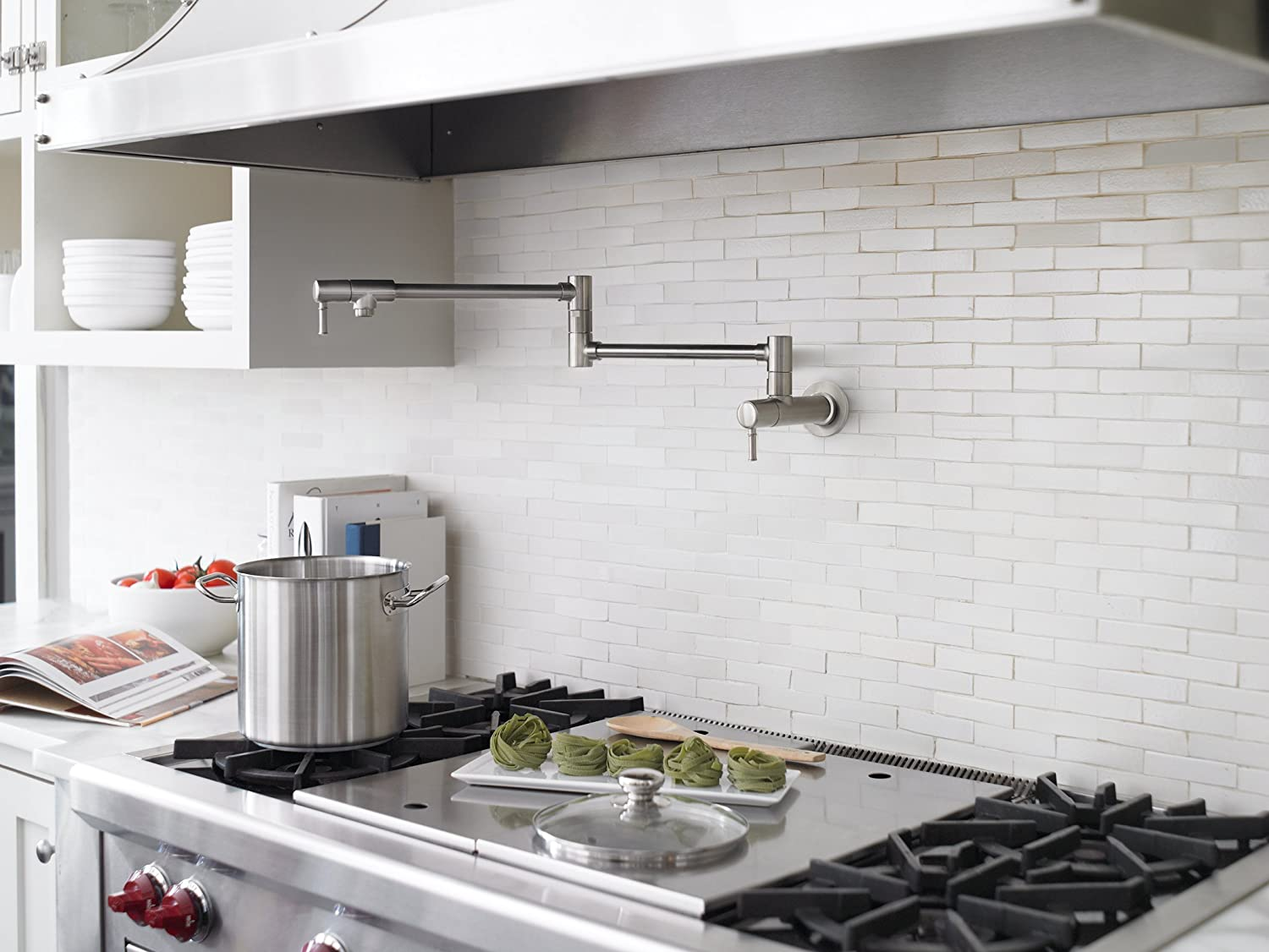 Hansgrohe 04218000 Talis C Pot Filler, Wall Mounted, Chrome   Pot Filler  Kitchen Sink Faucets   Amazon.com