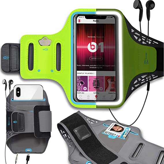 Sports Running Armband w//Key Holder Slot /& Earphone Connection J/&D Armband Compatible for Samsung Galaxy S10//S10e//S8//S9//S7 Edge iPhone X//iPhone Xs//iPhone 8//iPhone 7//iPhone 6S//iPhone 6 Armband