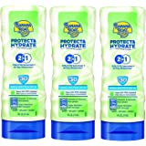 Banana Boat Protect & Hydrate Sunscreen Lotion 2 in 1 SPF 30, 6 FZ (Pack of 3)
