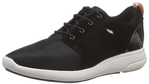 Geox D Ophira B, Zapatillas para Mujer, Negro, 37 EU