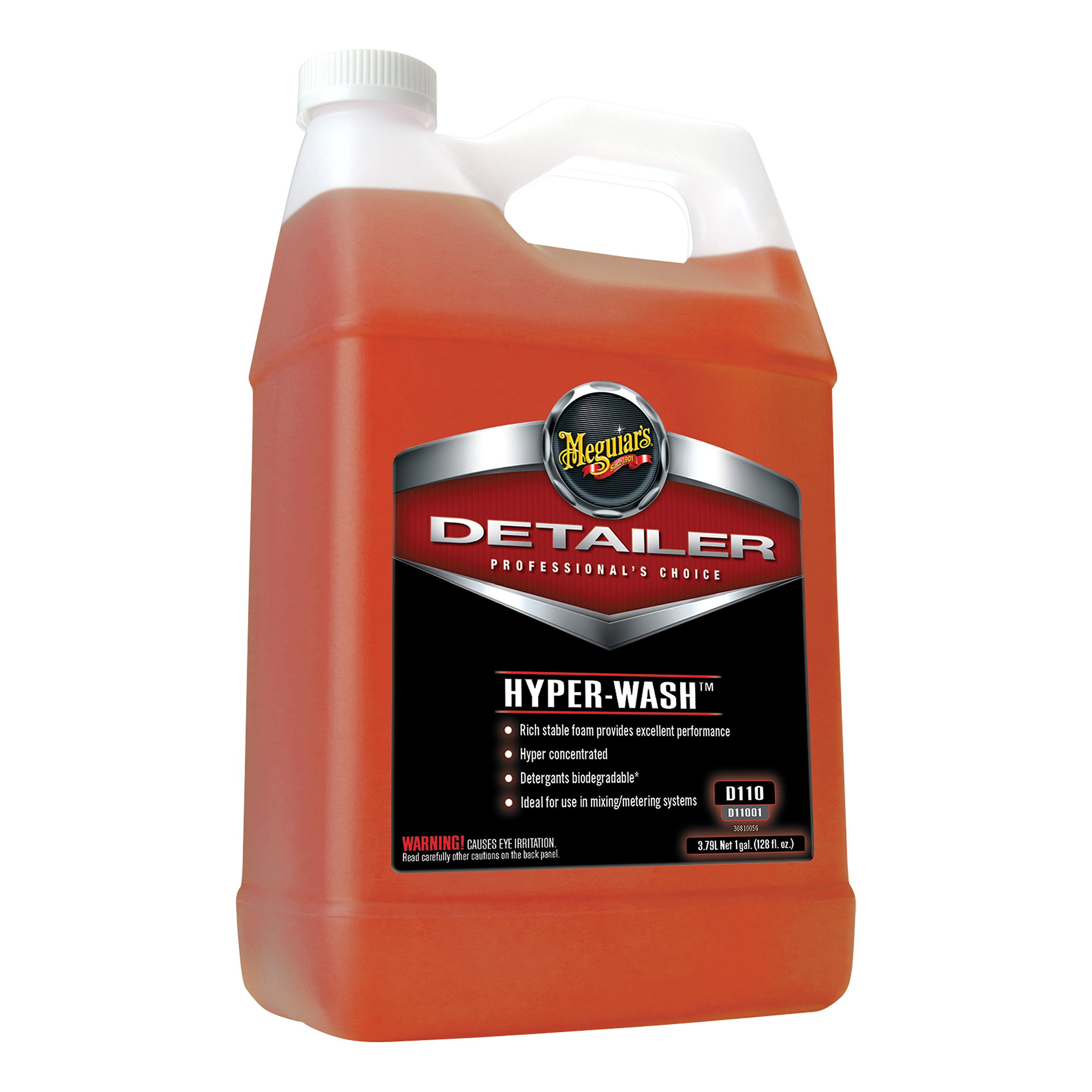 Meguiar's Hyper-Wash - Foaming Car Wash Lifts Off Dirt and Leaves a Rich Shine - D11001, 1 gal