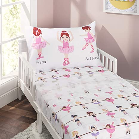 Soft Microfiber Breathable and Hypoallergenic Toddler Sheet Set EVERYDAY KIDS Toddler Fitted Sheet and Pillowcase Set Unicorn Dreams