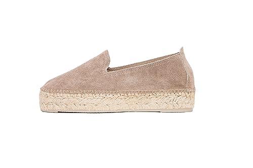MANEBI Hamptons, Alpargatas para Niñas, Beige (Taupe W 1.9), 40 1/3 EU: Amazon.es: Zapatos y complementos