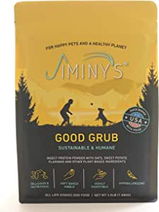 Jiminy's Good Grub Insect Protein Oven-Baked Dog Food 3.5 lb Bag | 100% Made in The USA | Gluten-Free | Sustainable | Limited Ingredients | High Protein | Hypoallergenic
